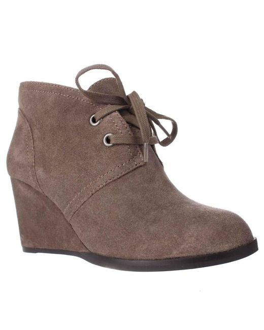 Lucky Brand Shoes Wedge Suede Booties