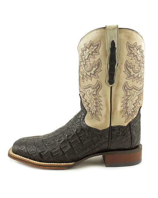 dan post dp2805 square toe leather western boot in black