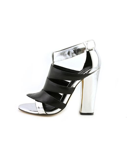Camilla skovgaard Tri-beam Women Open Toe Leather Black ...