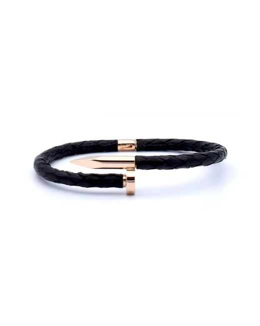 Double Bone   Nail Pink Gold/ Black Python   Lyst