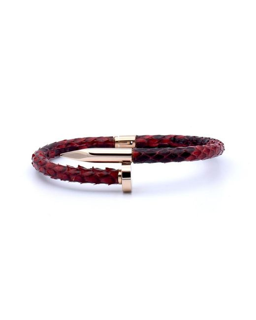 Double Bone | Nail Pink Gold/ Red Python | Lyst
