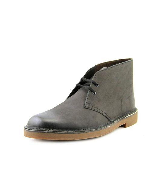 Clarks   Bushacre 2 Men Round Toe Leather Black Chukka Boot for Men   Lyst