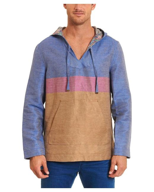 Robert Graham | Blue Fish Creek Classic Fit Linen-blend Outerwear for Men | Lyst