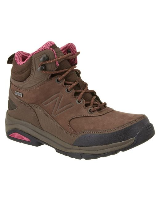 New Balance | Brown Women's 1400 Leather Hiking Boot | Lyst