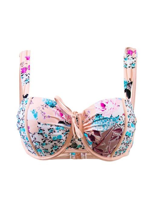 Seafolly | Pink Balconnette Bustier Swimsuit E Cup Ocean Rose | Lyst