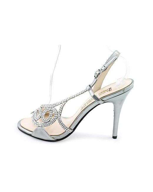 E! Live From The Red Carpet   Metallic E0014 Open Toe Canvas Sandals   Lyst