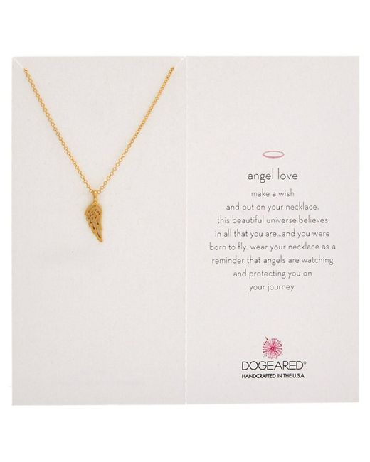 Dogeared | Metallic Angel Wing 14k Over Silver Necklace | Lyst