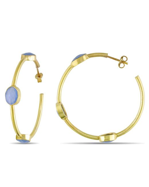 Catherine Malandrino | Metallic Station Hoop Earrings | Lyst