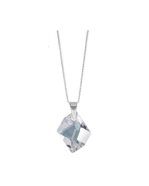 Barzel - Metallic Swarovski Clear Crystal Cosmic Pendant In Sterling Silver - Lyst