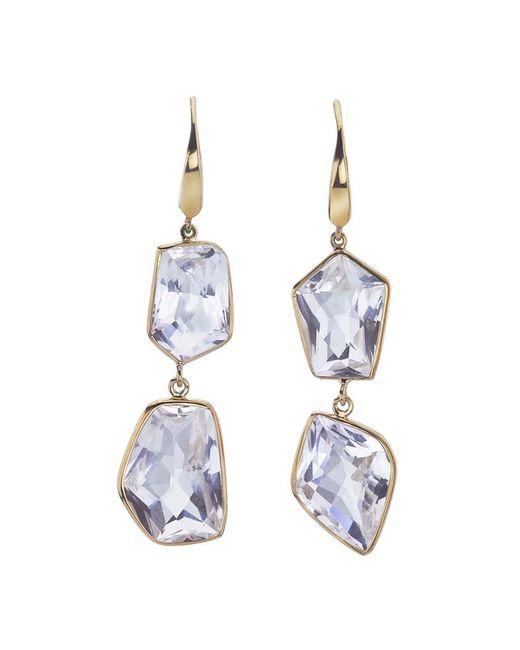 Jewelista - 18k Yellow Gold Vermeil & Quartz Drop Earrings - Lyst