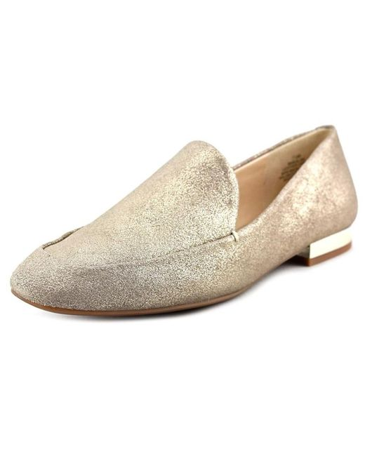 Nine West | Metallic Xalan Square Toe Leather Loafer | Lyst