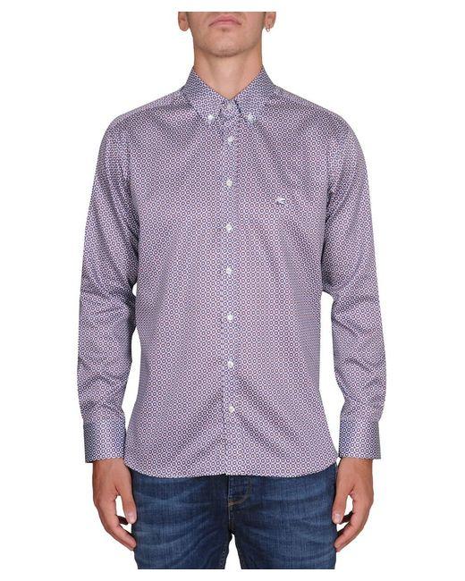 Etro - Purple Men's Multicolor Cotton Shirt for Men - Lyst