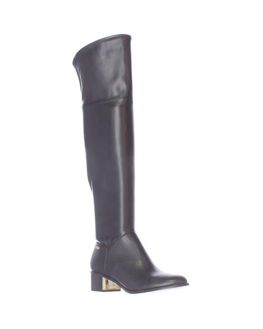 Calvin Klein | Carli Pull On Over The Knee Boots - Black | Lyst