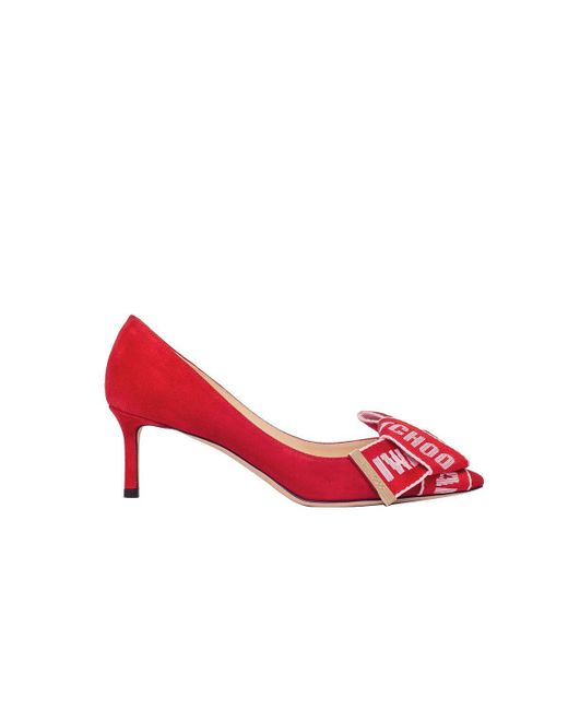 5c48da02d0f Lyst - Jimmy Choo Women s Tegan60uobsuede Red Suede Pumps in Red