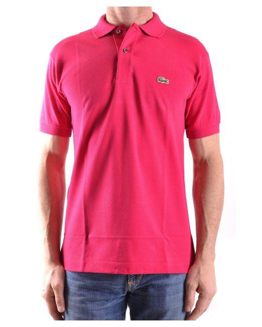 Lacoste - Men's Mcbi341019o Pink Cotton Polo Shirt for Men - Lyst