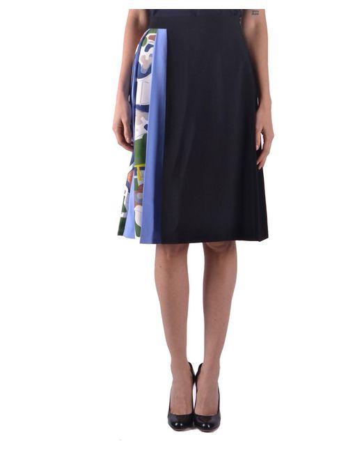 MSGM - Women's Black Acetate Skirt - Lyst