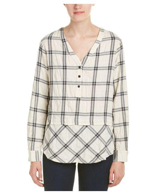 Fifteen Twenty - White Mix Match Plaid Shirt - Lyst
