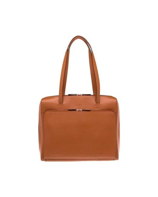 Lodis - Brown Women's Audrey Rfid Zip Top Tote With Organization - Lyst