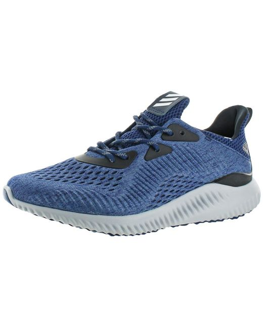 Adidas - Blue Womens Alphabounce Em Round Toe Heathered Running Shoes - Lyst