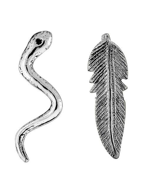 Adornia | Metallic Sterling Silver Garden Of Eden Stud Earrings | Lyst