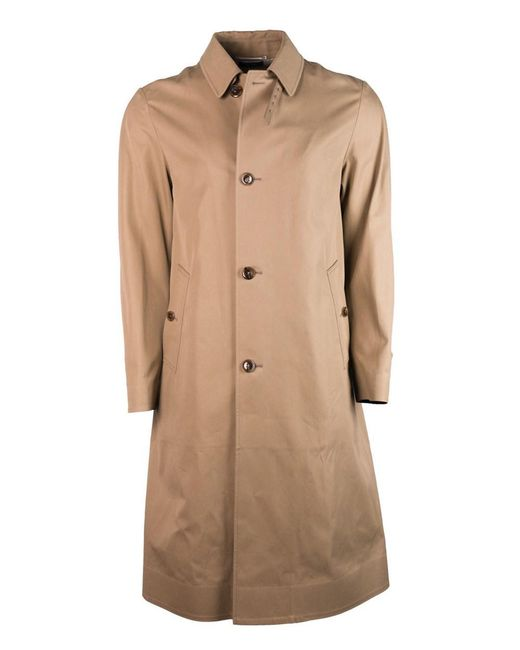 1d0d0429e13e Tom Ford - Tan Brown Pure Cotton Adjustable Belt Back Trench Coat for Men -  Lyst ...