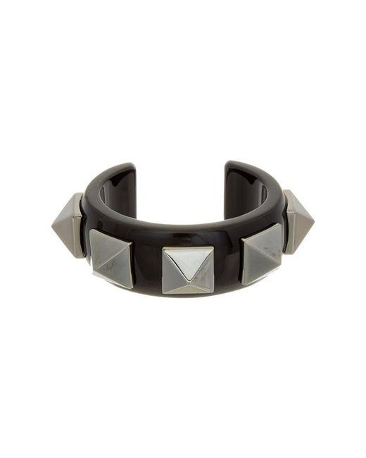 Valentino | Black Rockstud Plexi Cuff | Lyst