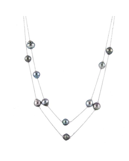 "Splendid - Metallic 36"""" Tahitian Pearl Tin Cup Necklace - Lyst"