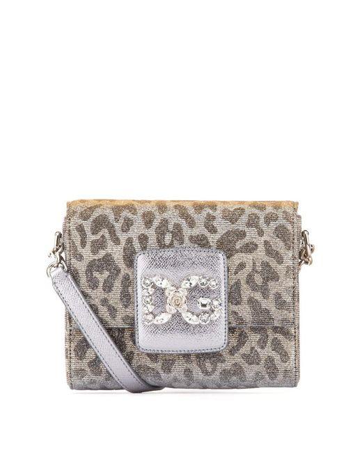 Dolce   Gabbana - Metallic Dolce E Gabbana Women s Silver Leather Shoulder  Bag - Lyst ... 31705a6ce049d