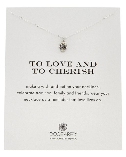 Dogeared | Metallic 14k Over Silver To Love And To Cherish Necklace | Lyst