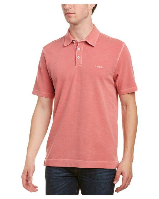 Ermenegildo Zegna - Red Z Zegna Cotton Pique Polo Shirt for Men - Lyst