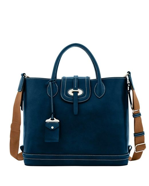 Dooney & Bourke - Blue Florentine Toscana Side Zip Tote - Lyst