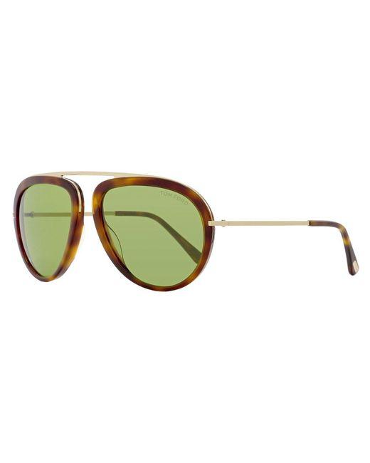384d9bad7f29 Tom Ford - Green Aviator Sunglasses Tf452 Stacy 56n Havana rose Gold Ft0452  - Lyst ...