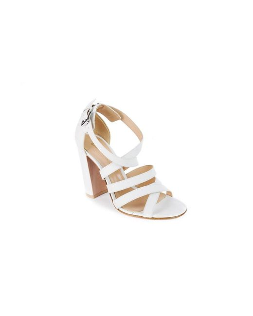 Gianvito Rossi | Women's White Leather Strappy Sandals | Lyst