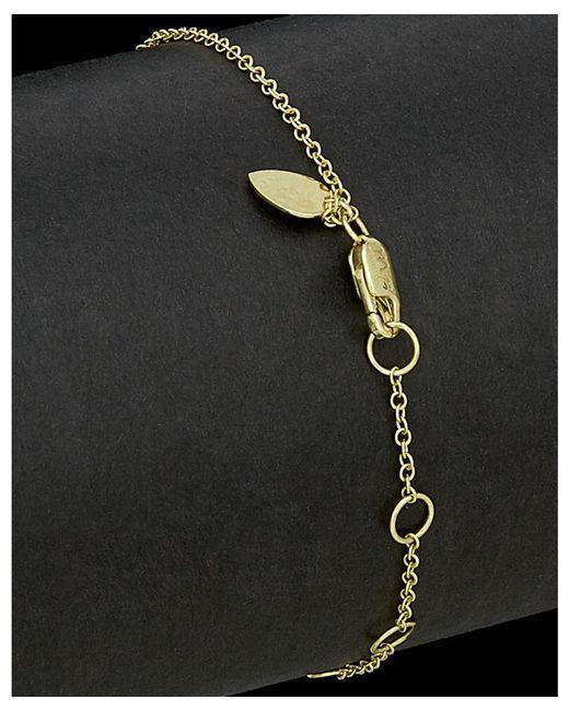 Meira t 14k Two tone 0 02 Ct Tw Diamond Bar Bracelet in Black