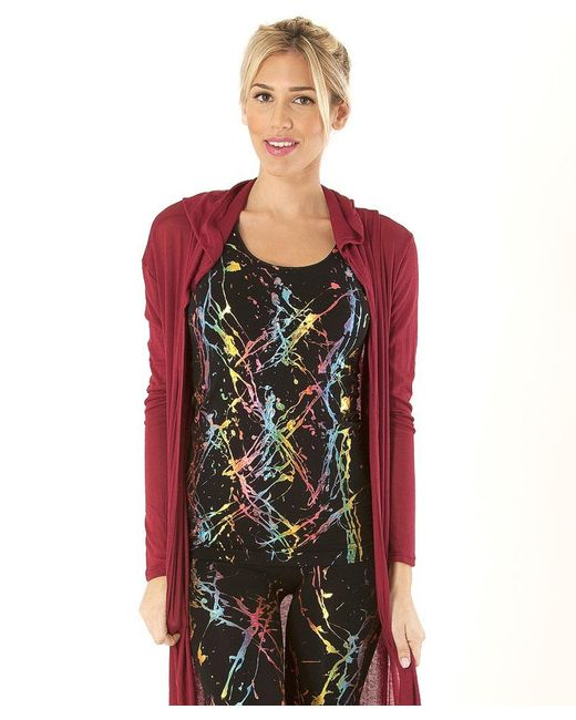 Electric Yoga - Red Hooded Duster Cardigan - Lyst