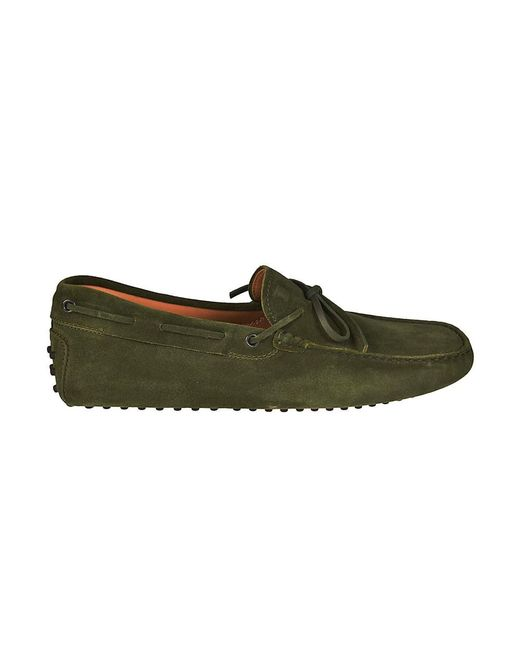 Tod's - Green Loafers Shoes Men for Men - Lyst