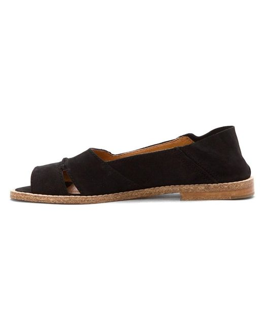 Kelsi Dagger Brooklyn - Black Womens Samanthawn Open Toe Slide Flats - Lyst