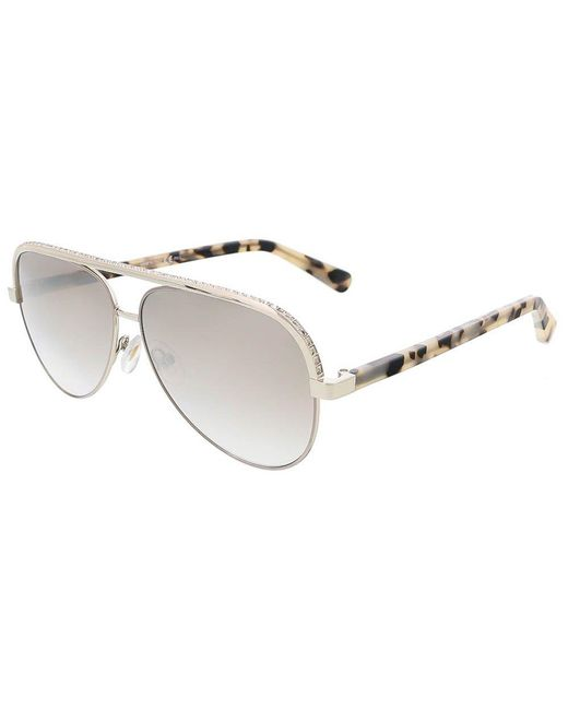 c1c3aeb5efd Jimmy Choo - Metallic Lina s 0j8b Light Gold Aviator Sunglasses - Lyst ...