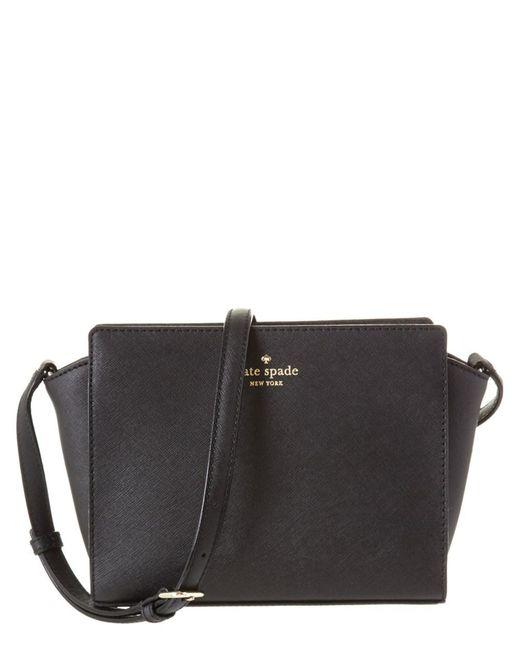 Kate Spade | Black Cedar Street Hayden Leather Crossbody | Lyst
