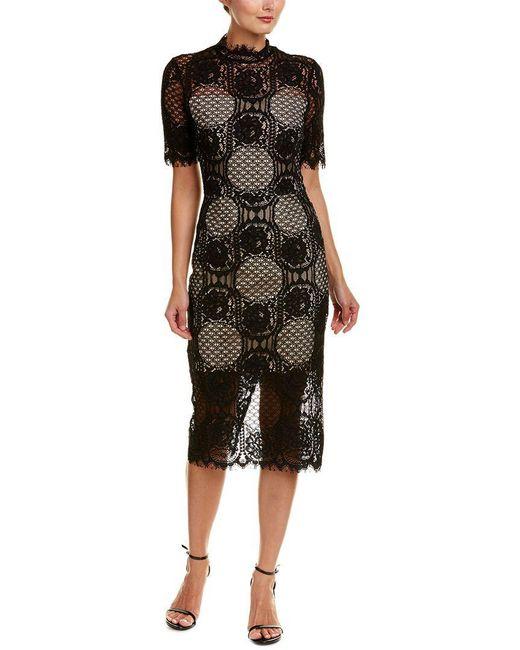 Alexia Admor - Black Sheath Dress - Lyst