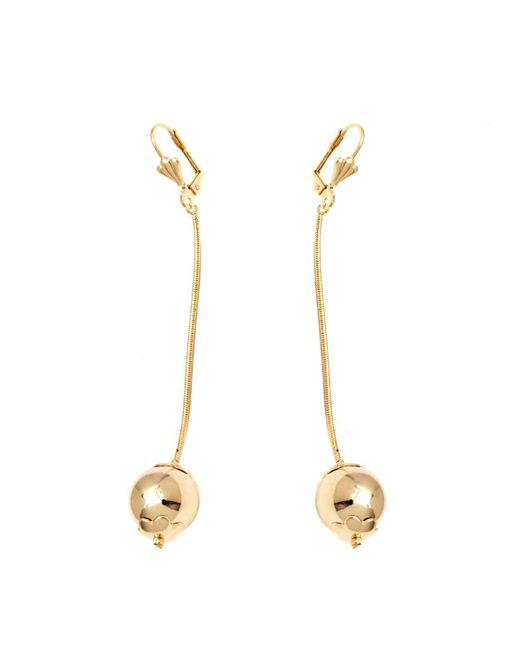 Peermont - Metallic Gold Chain Ball Earrings - Lyst