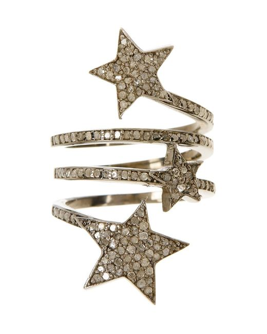 Adornia | Metallic Champagne Diamond Starra Ring | Lyst