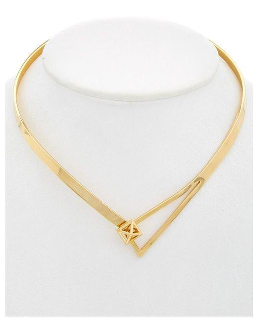 Rebecca Minkoff - Metallic 14 Kt Loop Collar Necklace - Lyst