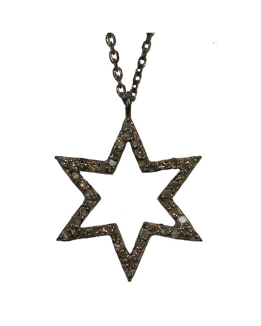 Adornia - Metallic Champagne Diamond And Sterling Silver Star Necklace - Lyst