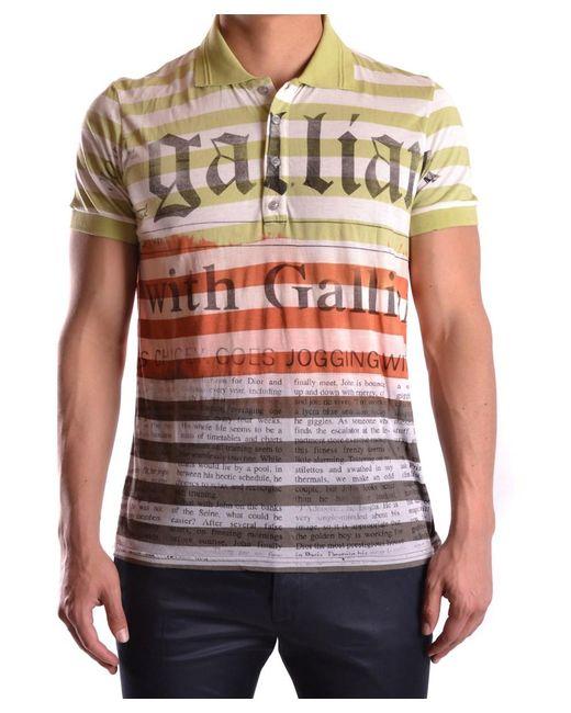 John Galliano | Men's Mcbi130108o Multicolor Polyester Polo Shirt for Men | Lyst