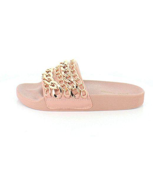 1a66ec003f4 ... Lyst Steve Madden - Brown Women s Chains Slide Sandal ...