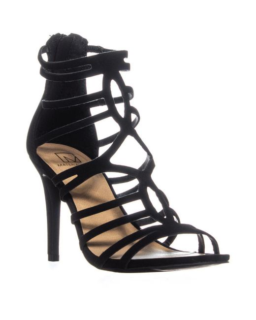 Material Girl - Mg35 Pixie Strappy Heeled Sandals, Black - Lyst