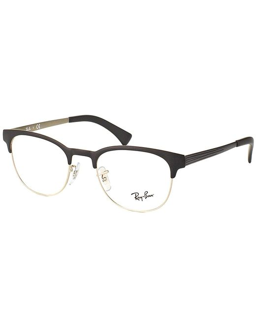 Ray-Ban - Black Clubmaster Metal Eyeglasses - Lyst