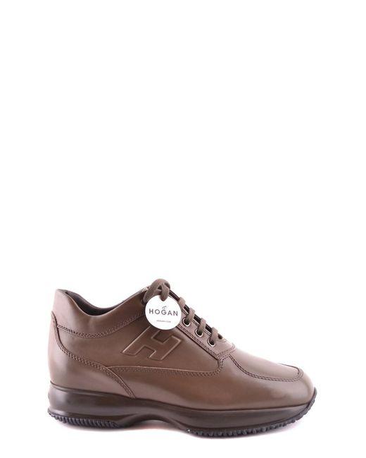 Hogan - Men's Mcbi148264o Brown Leather Sneakers for Men - Lyst