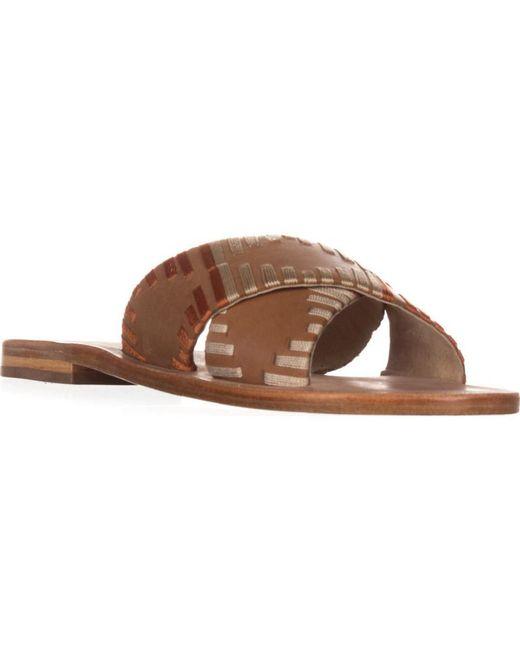 Kelsi Dagger Brooklyn - Brown Brooklyn Crown Slide Sandals, Cinnamon - Lyst